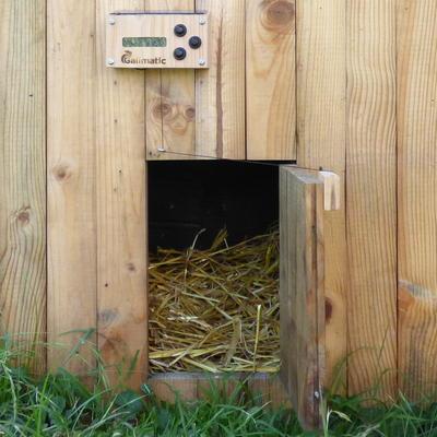 portier automatique pour trappe de poulailler portillon